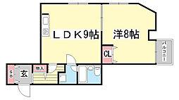 ライオンズマンション神戸第3[206号室]の間取り