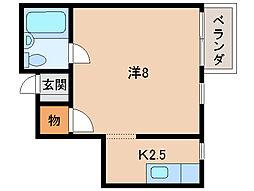 コーポホワイトエイト[2階]の間取り