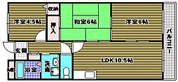 シェーネスハイム日野谷[4階]の間取り