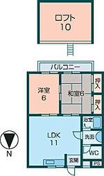 ハイツエミカI[121号室]の間取り