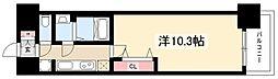 プレサンス丸の内リラティ 7階1Kの間取り