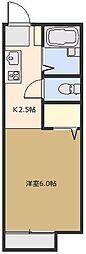 サンコーポ藍蓼(あいたで) B[103号室号室]の間取り