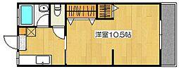 福留ハイツ[202号室]の間取り