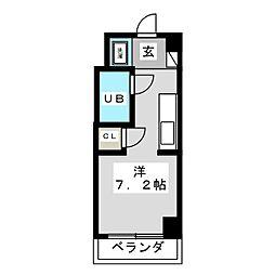レジデンスシャトー[3階]の間取り