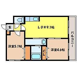 北海道札幌市中央区北六条西20丁目の賃貸マンションの間取り