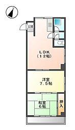 第三米常ビル[7階]の間取り