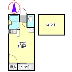 SKYROCKET I[2階]の間取り