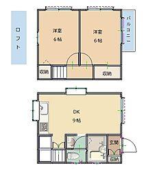 [テラスハウス] 東京都清瀬市中里3丁目 の賃貸【東京都 / 清瀬市】の間取り