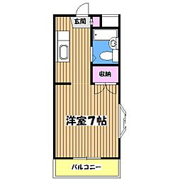 東京都八王子市諏訪町の賃貸マンションの間取り