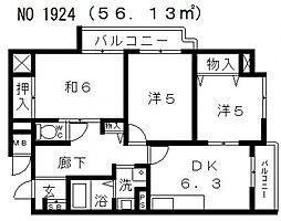グラン・ピア天王寺[7階]の間取り