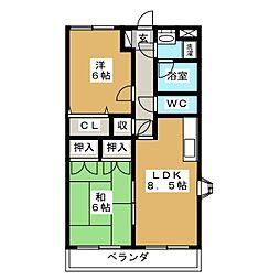 メルベイユ柳生[4階]の間取り