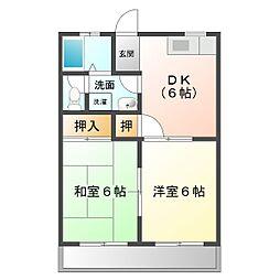西条ビルディング[3階]の間取り