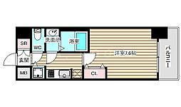 サムティ福島PORTA 6階1Kの間取り