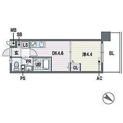 ブランオールA棟[5階]の間取り