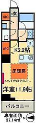 東京メトロ日比谷線 南千住駅 徒歩5分の賃貸マンション 11階1Kの間取り