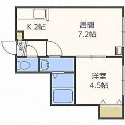 レユシール20[2階]の間取り