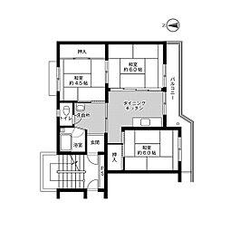 ビレッジハウス小羽山[2-107号室]の間取り