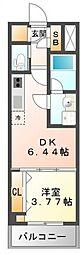 江坂プライマリーワン[6階]の間取り