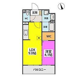 SOPHIA TOKUNAGAIII 5階1LDKの間取り
