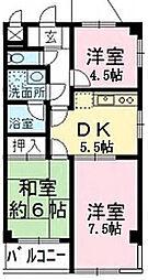 神奈川県厚木市金田の賃貸マンションの間取り