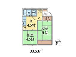 千葉県船橋市海神の賃貸アパートの間取り