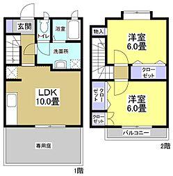 [タウンハウス] 静岡県湖西市新居町新居 の賃貸【静岡県 / 湖西市】の間取り