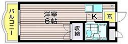 ゴールドファイブ成城[205号室]の間取り