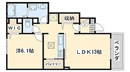 南海線 鳥取ノ荘駅 徒歩6分の賃貸アパート 1階1LDKの間取り