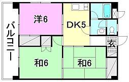松山南ハイツ[301 号室号室]の間取り
