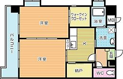 渡邊ビルII[8階]の間取り