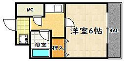 松兼マンション[401号室]の間取り