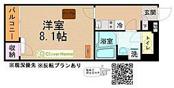 小田急江ノ島線 長後駅 バス13分 大邸下車 徒歩2分の賃貸アパート 1階1Kの間取り