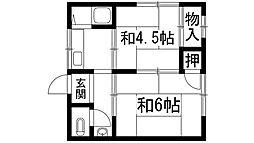 吉川文化[2階]の間取り