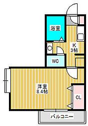 セレ新松戸[2階]の間取り
