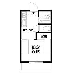 東京都練馬区下石神井4丁目の賃貸アパートの間取り