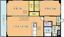 クレフォート皇后崎[6階]の間取り
