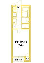 JR南武線 矢向駅 徒歩17分の賃貸アパート 2階1Kの間取り