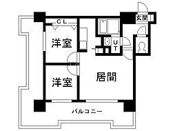 UURコート札幌北三条 7階2LDKの間取り