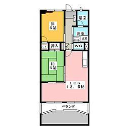 愛知県名古屋市緑区大清水1の賃貸マンションの間取り