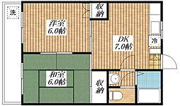 サンハイツコマチ[3階]の間取り