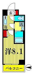 JR総武線 錦糸町駅 徒歩12分の賃貸マンション 4階1Kの間取り