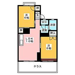 カームハウス C棟[1階]の間取り