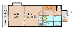 ピュアドームスタシオン箱崎[3階]の間取り