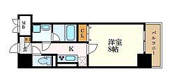 グランメゾン黒川 1階1Kの間取り