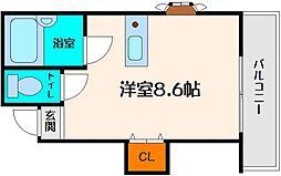 モアクレスト江坂[2階]の間取り