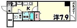 ロイヤルヒル神戸三ノ宮[5階]の間取り