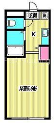 東京都中野区鷺宮4丁目の賃貸アパートの間取り