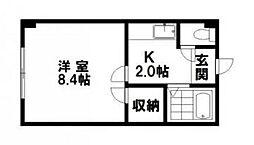 フロンティアK5[205号室]の間取り
