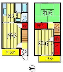 [テラスハウス] 埼玉県三郷市鷹野4丁目 の賃貸【/】の間取り