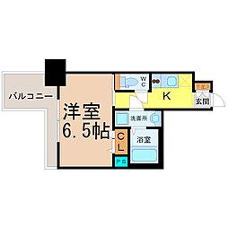 愛知県名古屋市中区錦3の賃貸マンションの間取り